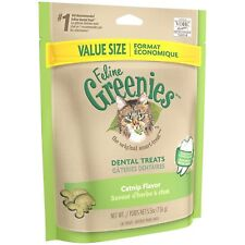 Feline Greenies Dental Treats 5.5 oz Catnip | Vet Recommended For Cats