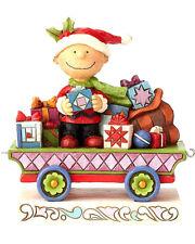 JIM SHORE PEANUTS~CHARLIE BROWN CHRISTMAS TRAIN~ALL WRAPPED UP~NIB 2018~6000988