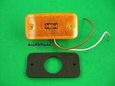 "Amber 4 "" 2 LED RV Motorhome Trailer Truck Clearance Marker Light J425AW"