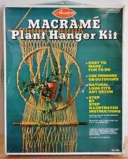 "Vintage 1970's Macrame Plant Hanger Kit Large Hanging 41""x14.5"" Avalon NIB"