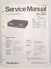 Technics Original Service Manual SH-E65 Equalizer