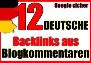 12 Backlinks a Blogkommentaren Deutsche Artikel Seo Linkaufbau Dofollow Backlink