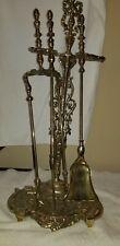 Vintage Rare Victorian Brass Fireplace Tools