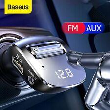 Baseus FM Transmitter Bluetooth 5.0 Auto MP3 Player KFZ AUX Freisprechanlage