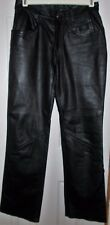 HARLEY DAVIDSON MOTOR CYCLE PANTS SZ 30 / 2 X 28 LEATHER BLACK WOMENS LINED SEXY