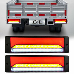 2X Tail Lights DC 12V Brake Reverse 147-LED Trailer Truck UTE Caravan Waterproof