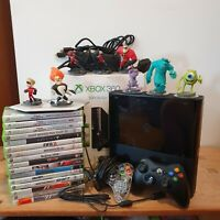 Huge Boxed Xbox 360 E 500GB Console Bundle 16 Games 8 Disney Infinity