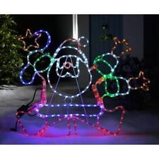 Christmas Animated Dancing Santa LED Lighted Display Outdoor Garden Decoration