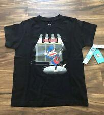 NWT Paul Frank Boys Short Sleeves Cotton T-Shirt Sz5 Julius Monkey Guitar Black