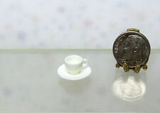 Dollhouse Miniature Quality Porcelain Cup & Saucer Set