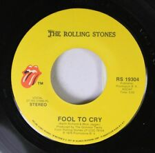 Rock 45 The Rolling Stones - Fool To Cry / Hot Studd On Atlantic Recording Corp.