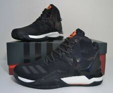 e9cacdb04e0a Adidas D Rose 7 Primeknit Men s Shoes Size 11 Black White Orange B49511