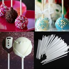 5 Bags(100Pcs)/Pack Sticks Cake Plastic Lolly Lollipop Chocolate DIY Mold Tool