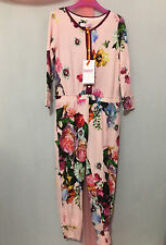 New Girls Designer Ted Baker Floral Oil Painting All In One Pyjama Suit 3-4yrs🌸