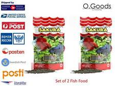 Aquarium Betta fish food Floating Catappa Fry Larva 2 Pack Granule Mini Splenden
