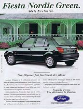 PUBLICITE ADVERTISING 045 1993 FORD Fiesta Nordic Green