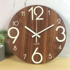12' Modern Large Luminous Quartz Wall Clock Non-ticking Glow In The Dark Silent