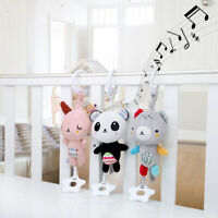 1x Baby Carriage Crib Teether Soft Plush Rattle Toy Hanging Ring Bell Music Box