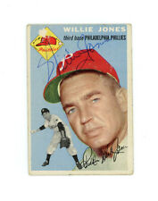WILLIE JONES signed 1954 TOPPS baseball card #41 PHILLIES