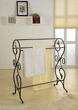 Free Standing Towel Rack Quilt Stand Hanger Rod Holder Display Antique Vintage