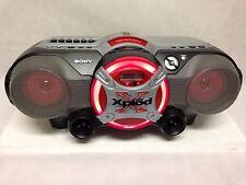 SONY XPLOD CFD-G505 PORTABLE BOOMBOX - CD / CASSETTE / RADIO / AM FM