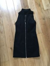 Cheap Monday Black Sleeveless Stretch Bodycon Zip Tunic Mini Dress UK 8