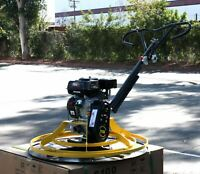 Cement Concrete Surface Finisher Power Trowel w/6.5HP Gas Engine &  Float Pan