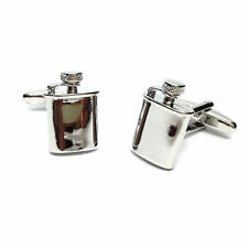 3D Detailed Ivory Coloured Rose Cufflinks in Gift Box florist flowers AJ604 NEW