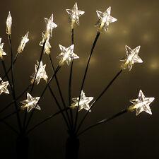 4x Garten Leuchtstäbe Sternenstäbe 24 LED Aussenbeleuchtung H66cm mit Erdspieß