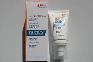 Ducray Melascreen UV Rich Cream SPF50+ 40ml limits and lightens brown spots