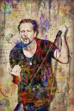 EDDIE VEDDER of PEARL JAM 12x18in Poster Eddie Vedder Tribute Art Free Shipping