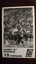 DANNY MANNING - NBA PHOENIX SUNS SIGNED 5X8 PHOTO