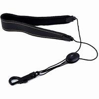 Adjustable Saxophone Strap Leather Nylon Padded Black AD