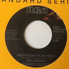 "NEIL SEDAKA: ""NEXT DOOR TO AN ANGEL"" b/w ""BREAKING UP"" on US RCA GOLD STANDARD"