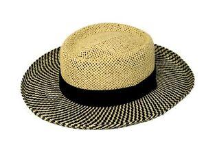 Men's straw gambler hat