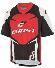 GHOST Bikes MTB Fahrrad Trikot für Kinder, Kids Jersey schwarz/rot - Gr. 128