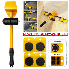 New 5Pcs Portable Furniture Transport Hand Tool 200KG Lifter Heavy Mover Rollers
