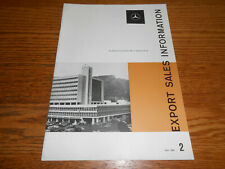 1959 MERCEDES BENZ EXPORT Dealer Sales Information MAGAZINE Issue 2 / BROCHURE