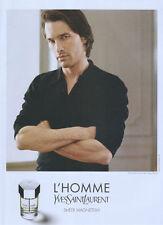 Yves Sait Laurent L'Homme Fragrance 2004 Magazine Advert #3721