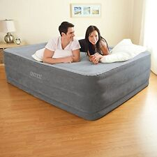 "Queen Size Air Bed Mattress 22"" Built In Electric Pump Raised Guest Inflatable"