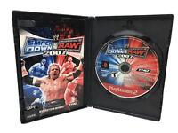 WWE SmackDown vs Raw 2007 Greatest Hits (PlayStation 2 PS2) CIB w/FREE SHIPPING