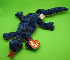 1de299c3467 TY Beanie Baby Lizzy the Blue Lizard Black Spots MWMT Birthday 5 May 11 1995