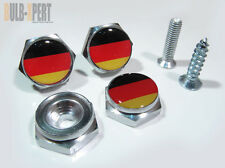FOR AUDI A3 A4 A5 A6 GERMANY FLAG BLK YELLOW EURO MODEL LICENSE PLATE BOLT SCREW