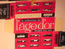 Réplique BOITE CARTON SOLIDO AGE D'OR 1964/1975