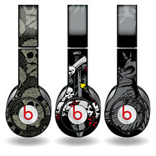Removable Vinyl Decal - Beats Solo HD Skins - Skull Patterns - Set of 3