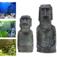 Easter Island Ancient Statue Fish Tank Craft Aquarium Accessory Decor Ornament