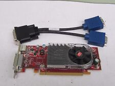 ATI Video Card with 2 VGA ports for Dual Monitors 256MB S-Video PCIe Low Profile