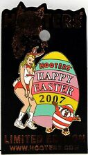 HOOTERS RESTAURANT HOLIDAY HAPPY EASTER 2007 BUNNY GIRL WITH EGG LAPEL PIN