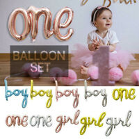 One Baby Boy Girl Letter Foil Balloon Baby Shower 1st Birthday Party Decor Hot
