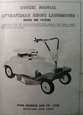 """Sears Craftsman 26"""" Riding Lawn Mower 6 hp Tractor 131.8283 Owner & Parts Manual"""